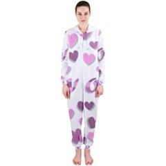 Love Valentine S Day 3d Fabric Hooded Jumpsuit (Ladies)