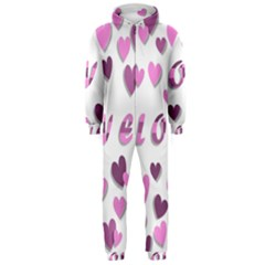 Love Valentine S Day 3d Fabric Hooded Jumpsuit (Men)