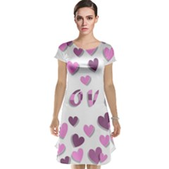 Love Valentine S Day 3d Fabric Cap Sleeve Nightdress