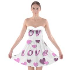Love Valentine S Day 3d Fabric Strapless Bra Top Dress
