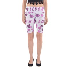 Love Valentine S Day 3d Fabric Yoga Cropped Leggings