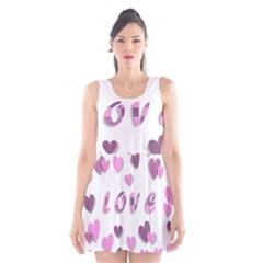 Love Valentine S Day 3d Fabric Scoop Neck Skater Dress