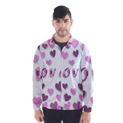Love Valentine S Day 3d Fabric Wind Breaker (Men)