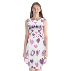 Love Valentine S Day 3d Fabric Sleeveless Chiffon Dress