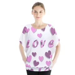 Love Valentine S Day 3d Fabric Blouse