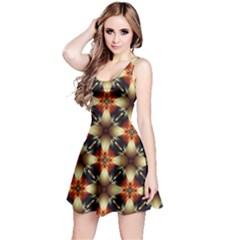 Kaleidoscope Image Background Reversible Sleeveless Dress