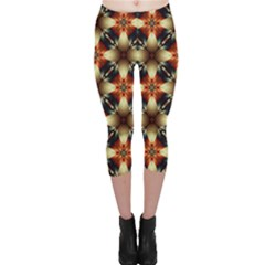 Kaleidoscope Image Background Capri Leggings