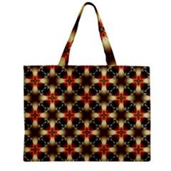 Kaleidoscope Image Background Zipper Mini Tote Bag