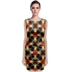 Kaleidoscope Image Background Classic Sleeveless Midi Dress
