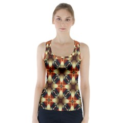 Kaleidoscope Image Background Racer Back Sports Top