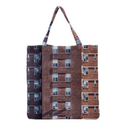 New York Building Windows Manhattan Grocery Tote Bag