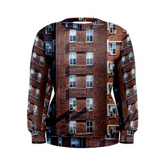 New York Building Windows Manhattan Women s Sweatshirt