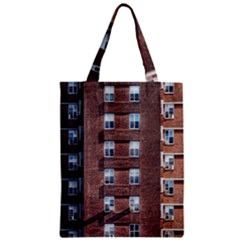 New York Building Windows Manhattan Zipper Classic Tote Bag