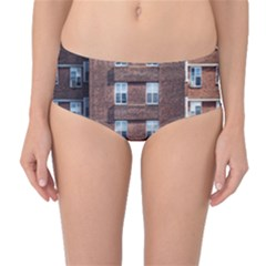 New York Building Windows Manhattan Mid Waist Bikini Bottoms