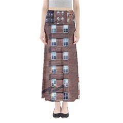 New York Building Windows Manhattan Maxi Skirts