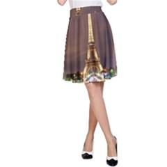 Paris Eiffel Tower A Line Skirt