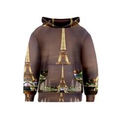 Paris Eiffel Tower Kids  Pullover Hoodie