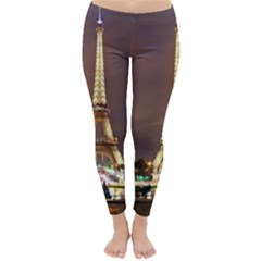 Paris Eiffel Tower Classic Winter Leggings