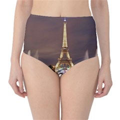 Paris Eiffel Tower High Waist Bikini Bottoms