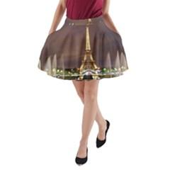 Paris Eiffel Tower A-Line Pocket Skirt