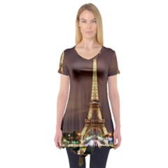 Paris Eiffel Tower Short Sleeve Tunic