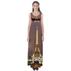 Paris Eiffel Tower Empire Waist Maxi Dress