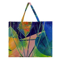 New Form Technology Zipper Large Tote Bag