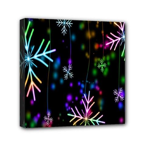 Nowflakes Snow Winter Christmas Mini Canvas 6  x 6