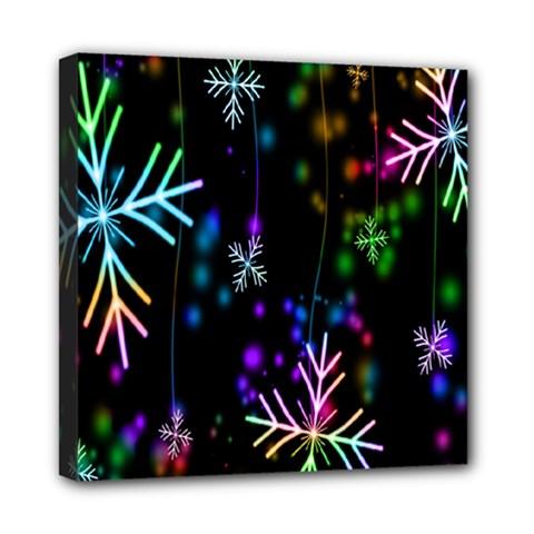 Nowflakes Snow Winter Christmas Mini Canvas 8  x 8