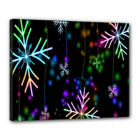 Nowflakes Snow Winter Christmas Canvas 20  x 16
