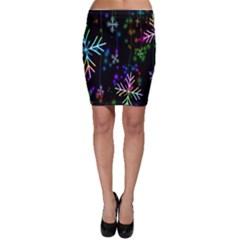 Nowflakes Snow Winter Christmas Bodycon Skirt