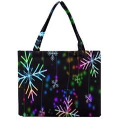 Nowflakes Snow Winter Christmas Mini Tote Bag
