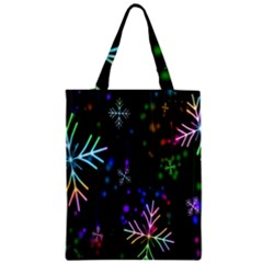 Nowflakes Snow Winter Christmas Zipper Classic Tote Bag