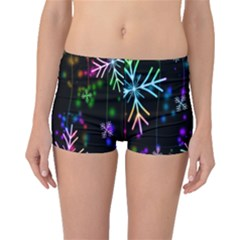Nowflakes Snow Winter Christmas Boyleg Bikini Bottoms