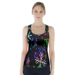 Nowflakes Snow Winter Christmas Racer Back Sports Top