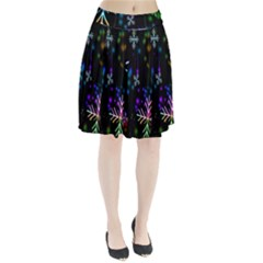 Nowflakes Snow Winter Christmas Pleated Skirt