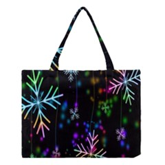 Nowflakes Snow Winter Christmas Medium Tote Bag