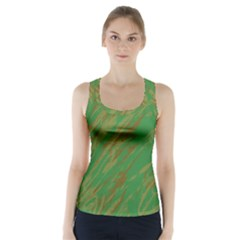 Brown Green Texture                                        Racer Back Sports Top