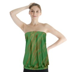 Brown Green Texture                                                     Strapless Top