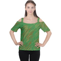 Brown green texture                                                  Women s Cutout Shoulder Tee