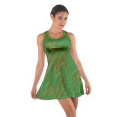 Brown green texture                                                  Cotton Racerback Dress