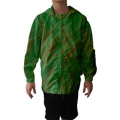 Brown green texture                                                  Hooded Wind Breaker (Kids)