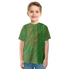 Brown green texture                                                  Kid s Sport Mesh Tee