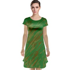 Brown green texture                                                  Cap Sleeve Nightdress