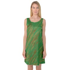 Brown green texture                                                  Sleeveless Satin Nightdress