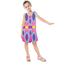 Ovals and stars                         Kid s Sleeveless Dress