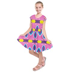 Ovals And Stars                      Kids  Short Sleeve Dress