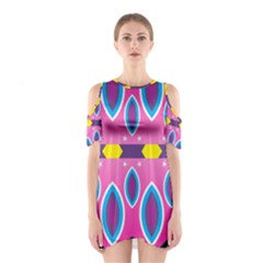 Ovals and stars                                                    Women s Cutout Shoulder Dress