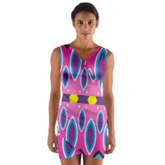 Ovals and stars                                                       Wrap Front Bodycon Dress