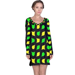 Yellow green shapes                                                     nightdress